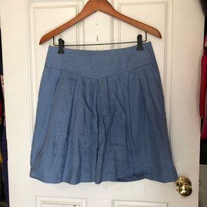 Banana Republic Blue Linen Skirt Size 4